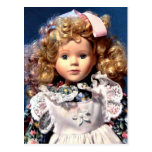 Cute Shirley Temple Doll Postcard