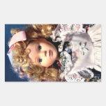 Cute Shirley Temple Doll Rectangular Sticker