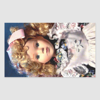 Cute Shirley Temple Doll Rectangular Sticker