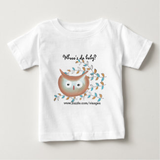 Cute Shirt Owl Picture in Brown & Teal