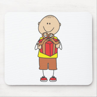 Cute Shirts   Cute Boy Holding Gift Shirts Mouse Pad