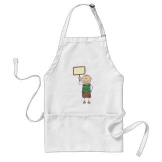 Cute Shirts | Cute Boy Holding Placard Gift Shirts Adult Apron