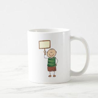 Cute Shirts | Cute Boy Holding Placard Gift Shirts Coffee Mug