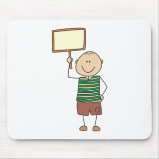 Cute Shirts | Cute Boy Holding Placard Gift Shirts Mouse Pad