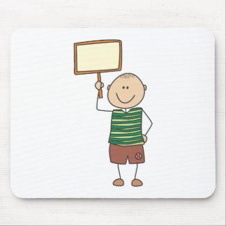 Cute Shirts | Cute Boy Holding Placard Gift Shirts Mouse Pad