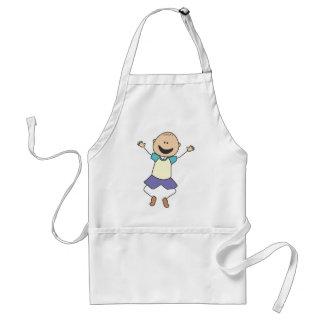 Cute Shirts | Cute Boy Jumping Gift Shirts Adult Apron