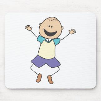 Cute Shirts   Cute Boy Jumping Gift Shirts Mouse Pad