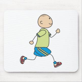 Cute Shirts   Cute Boy Running Gift Shirts Mouse Pad