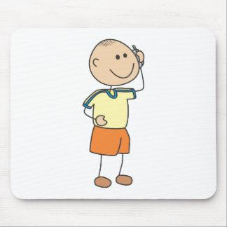 Cute Shirts   Cute Boy Talk Phone Gift Shirts Mouse Pad