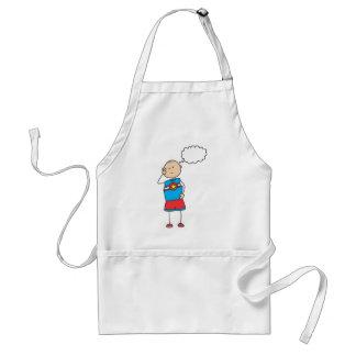 Cute Shirts | Cute Boy Thinking Gift Shirts Adult Apron