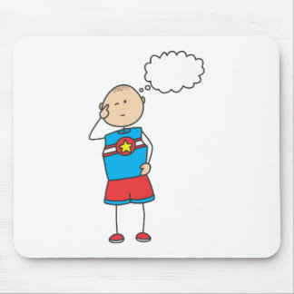 Cute Shirts | Cute Boy Thinking Gift Shirts Mouse Pad