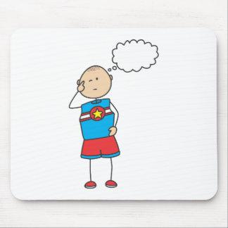 Cute Shirts   Cute Boy Thinking Gift Shirts Mouse Pad