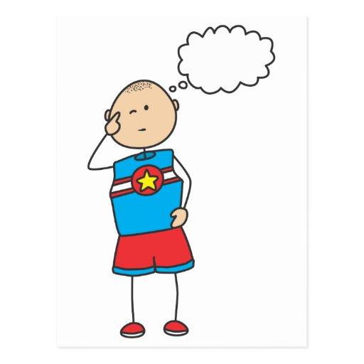 Cute Shirts | Cute Boy Thinking Gift Shirts Postcard