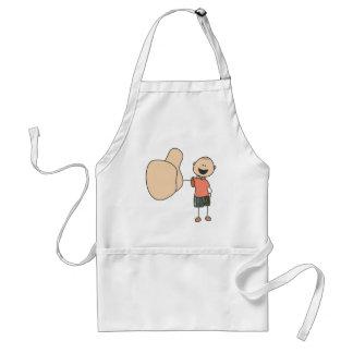 Cute Shirts | Cute Boy Thumbs Up Gift Shirts Adult Apron