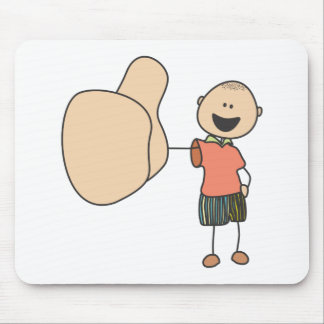 Cute Shirts   Cute Boy Thumbs Up Gift Shirts Mouse Pad