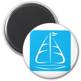 Cute Shirts | Sailboat Icon Gift Shirts 2 Inch Round Magnet