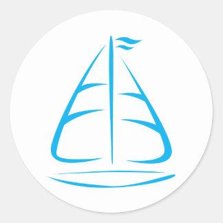 Cute Shirts | Sailboat Icon Gift Shirts Classic Round Sticker