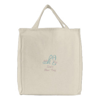 Cute Shoes Embroidered Tote Bag