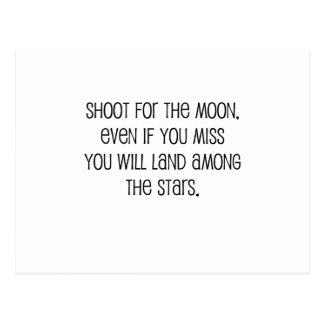 "Cute, ""Shoot for the moon"" Postcard"