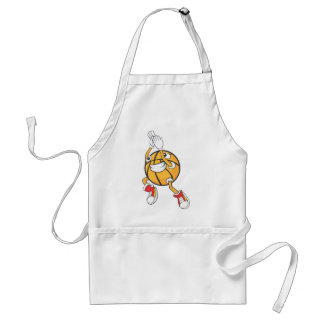 Cute Shooting Basketball Jump Shot Adult Apron
