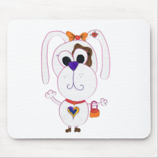 Cute shopaholic mouse pad