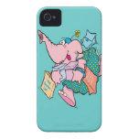cute shopaholic shopping elephant iPhone 4 cover