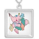 cute shopaholic shopping elephant necklaces