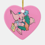 cute shopaholic shopping elephant ornaments