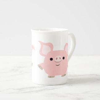 Cute Shorty Cartoon Pig Bone China Mug
