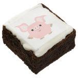 Cute Shorty Cartoon Pig Brownies Brownie