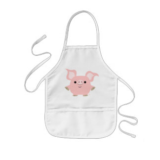 Cute Shorty Cartoon Pig Children Apron
