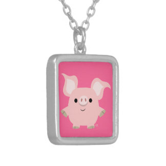 Cute Shorty Cartoon Pig Necklace