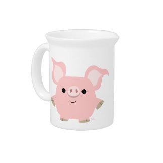 Cute Shorty Cartoon Pig Pitcher