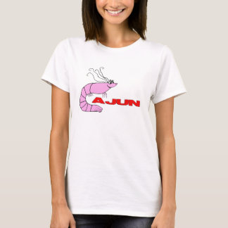 "Cute Shrimp Cartoon ""Cajun"" T-Shirt"