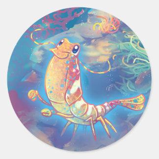 Cute Shrimp Classic Round Sticker