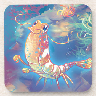 Cute Shrimp Drink Coaster