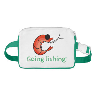 Cute shrimp seafood waist bag