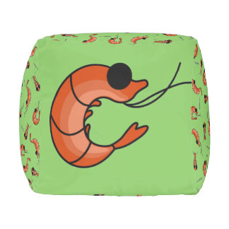 Cute shrimps kawaii seafood pouf