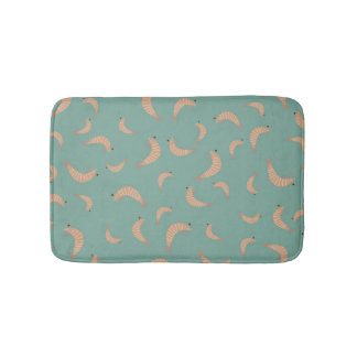 Cute shrimps - vintage colors bath mat