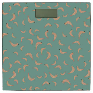 Cute shrimps - vintage colors bathroom scale