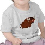 Cute Shy Cartoon Bull Baby T-Shirt