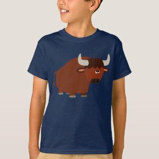 Cute Shy Cartoon Bull Children T-Shirt