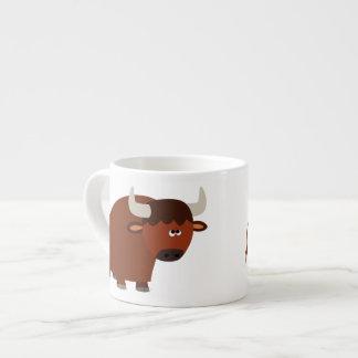 Cute Shy Cartoon Bull Espresso Mug