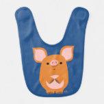 Cute Shy Cartoon Pig Baby Bib
