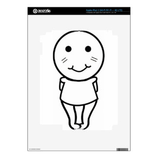 Cute Shy Design Skin For iPad 3