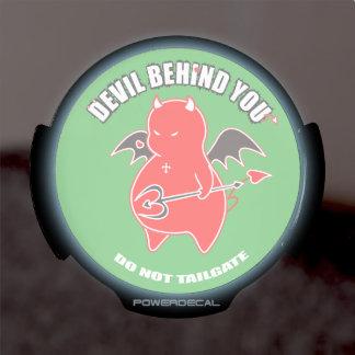 Cute Shy Devil fighter LED Window Decal