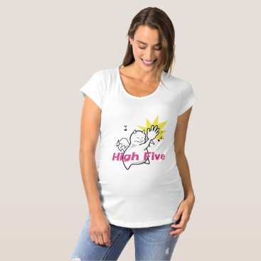Halloween Themed Cute Shy Devil High Five Maternity T-Shirt