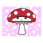 Cute Shy Kawaii Toadstool Post Cards