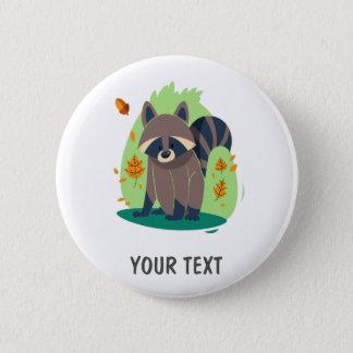 Cute Shy raccoon Button