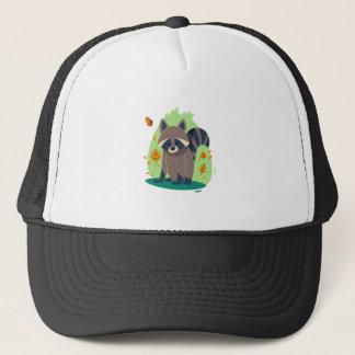 Cute Shy raccoon Trucker Hat